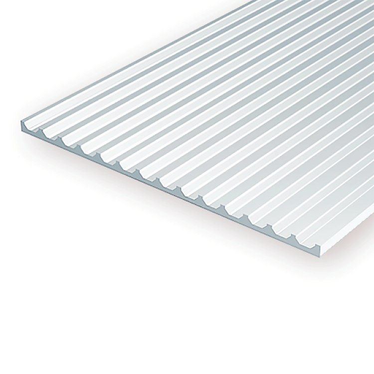 "Polystyrene: .040 Board & Batten Siding Sheets - 6""x12"""