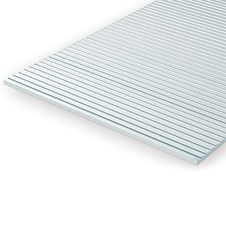 "Polystyrene: Freight Car Siding Sheets - 6""x12"""