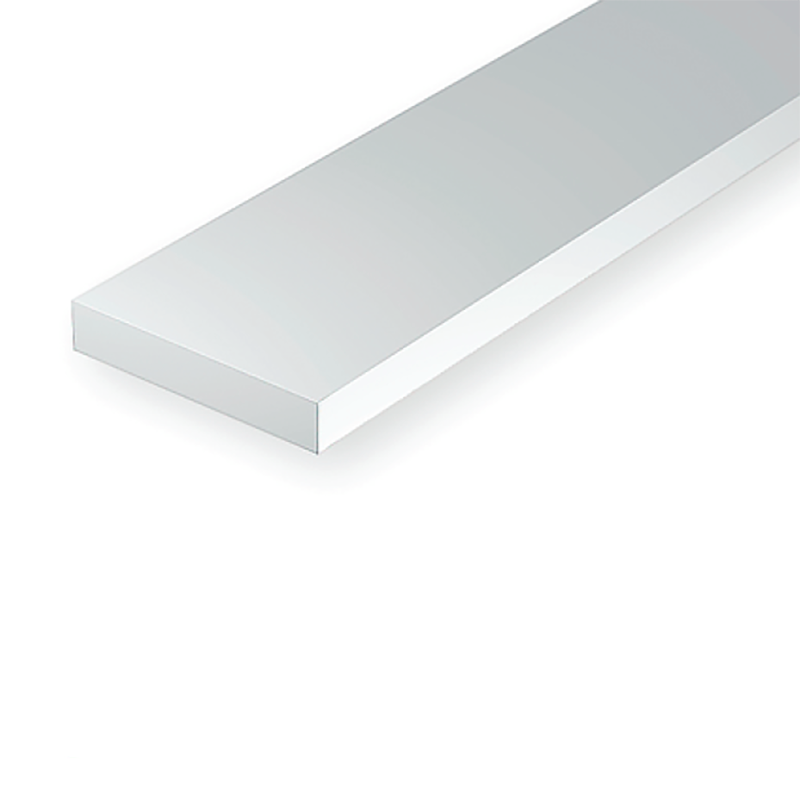 "Polystyrene: Dimensional 14"" Strip - .010 Thickness"