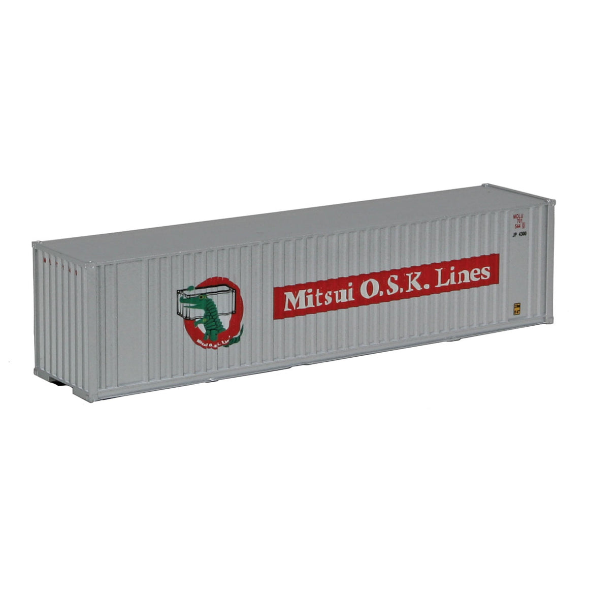 N Scale: 40' Hi Cube Ribbed Side Container - Mitsui OSK
