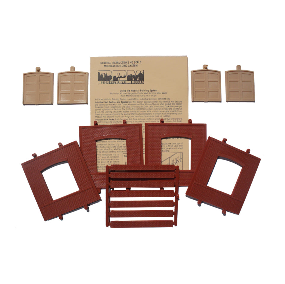 HO Scale: Modular Structures - Freight and Overhead Door Panels - Kit