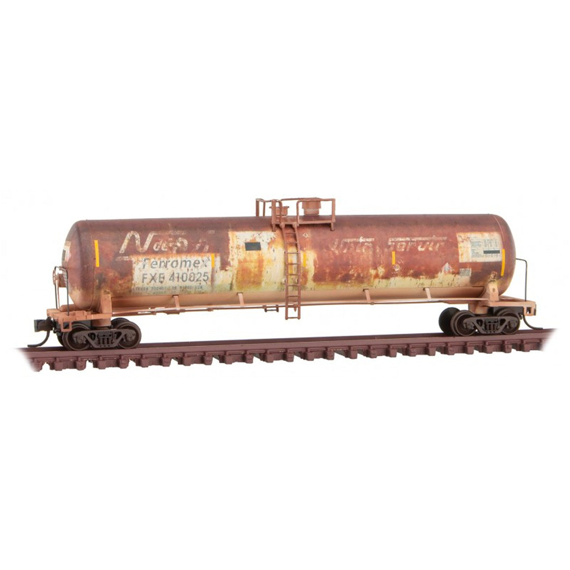N Scale: 56' General Service Tank Car - Ferromex 'Weathered'
