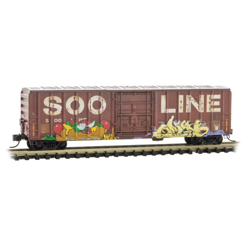 N Scale: 'Picnic' Graffiti Runner Pack - SOO Line, CP Rail