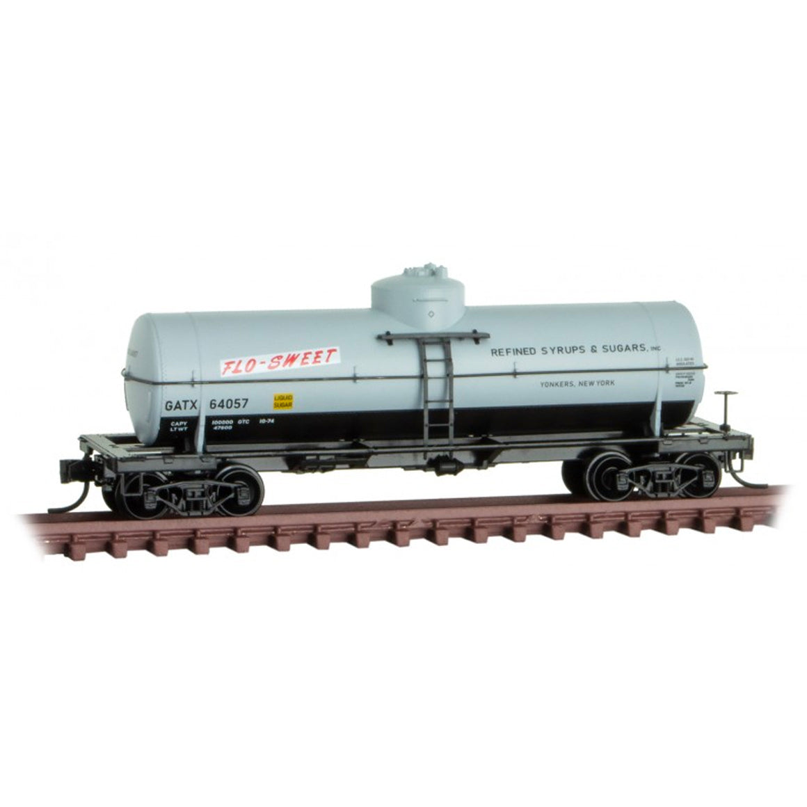 N Scale: 39' Single Dome Tank Car - GATX 'Flo-Sweet'