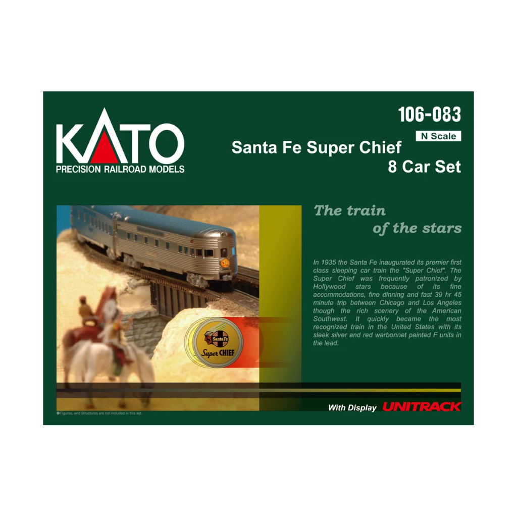 N Scale: Santa Fe Super Chief - 8 Car Set