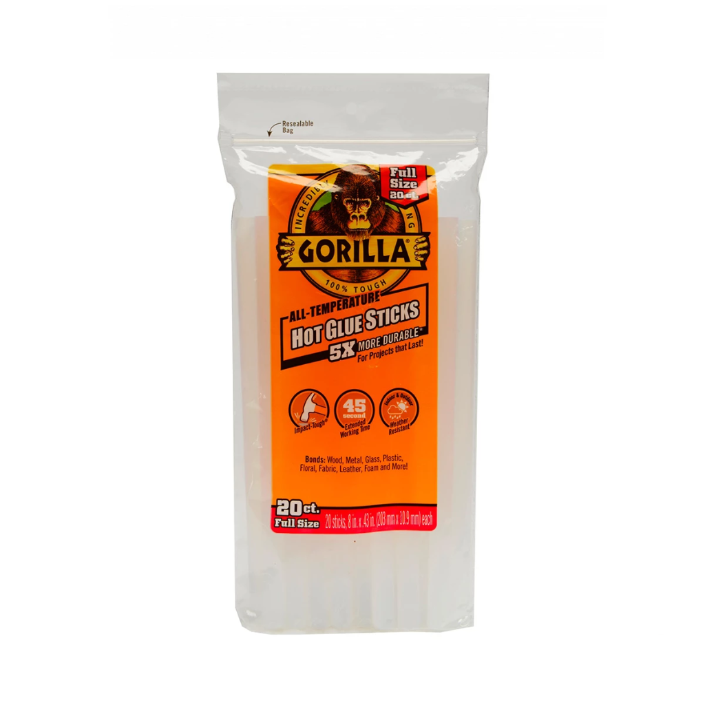 Gorilla Glue: Hot Glue Sticks - Full Size - 8""