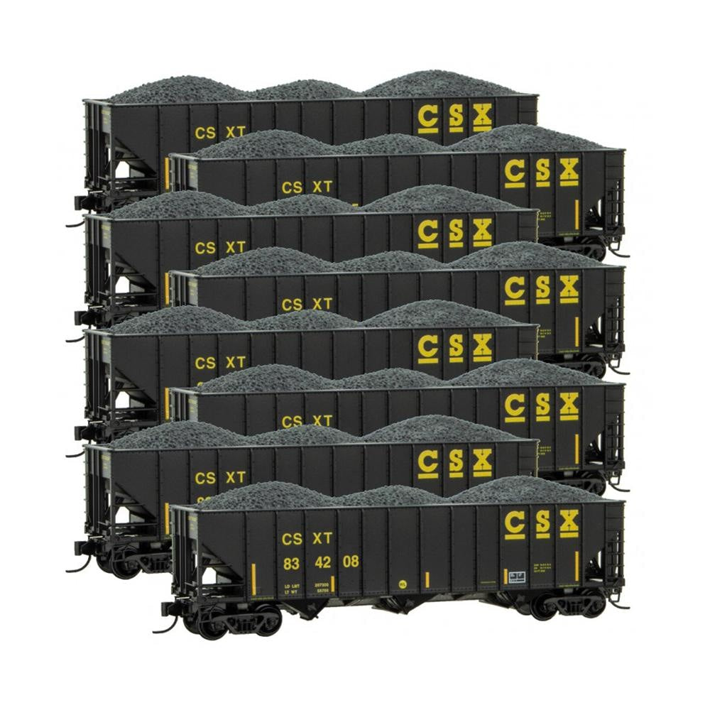 N Scale: 100-Ton 3-Bay Hopper - CSX - 8 Pack