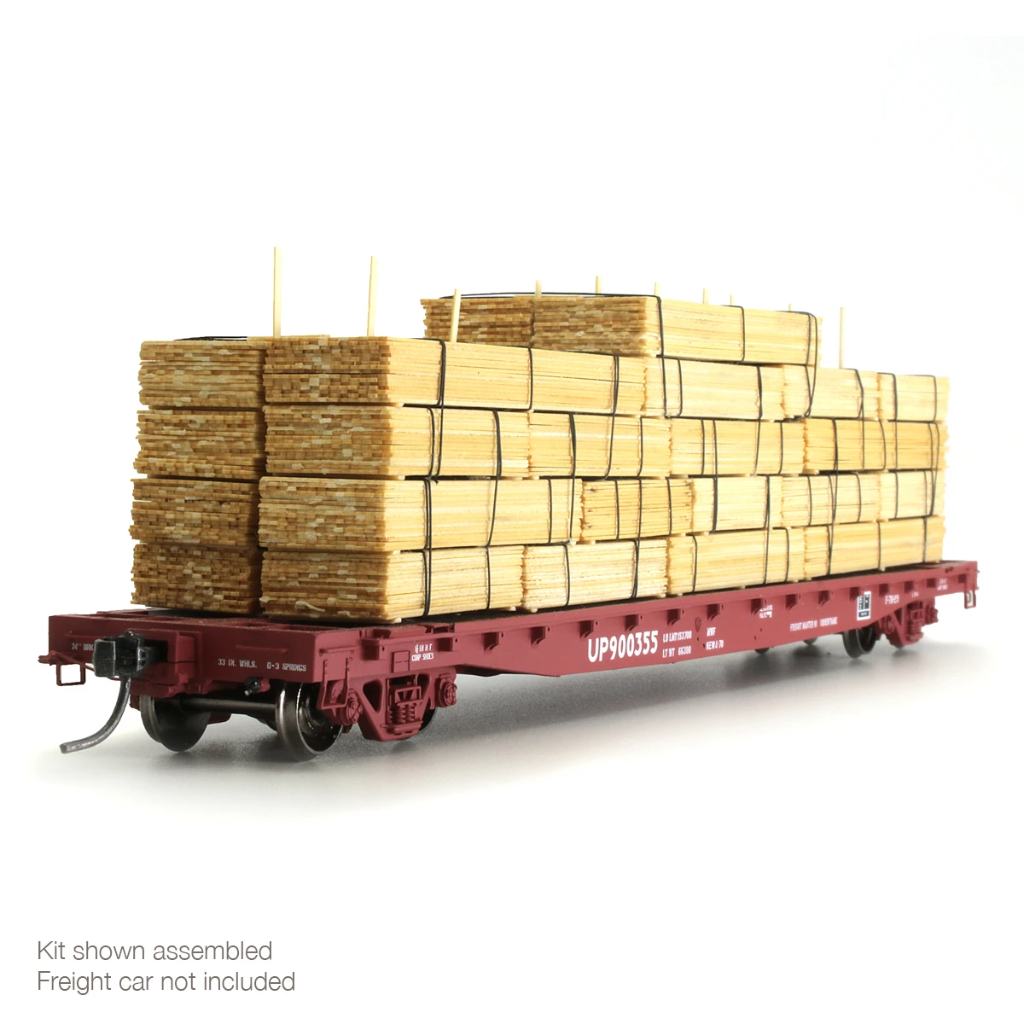 HO Scale: Lumber Load Kit for Flat Cars