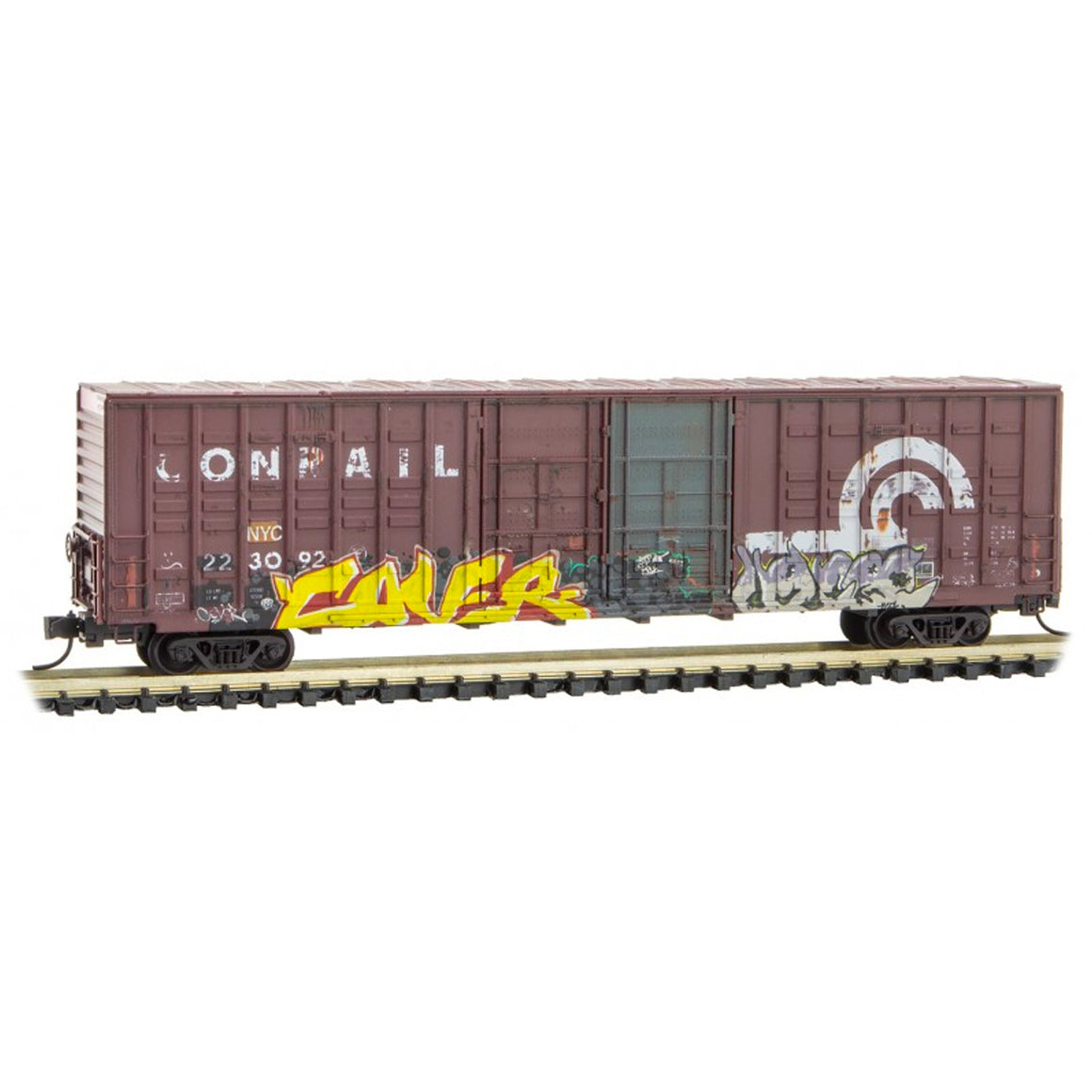N Scale: 60' Excess Height Boxcar - Conrail 'Ex-NYC'