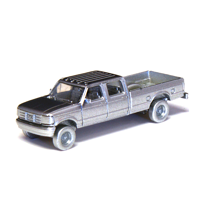 N Scale: 1992 Ford F-250 Series Super Duty 4X4 Crew Cab Pickup - 2-Pack - Undecorated Kit
