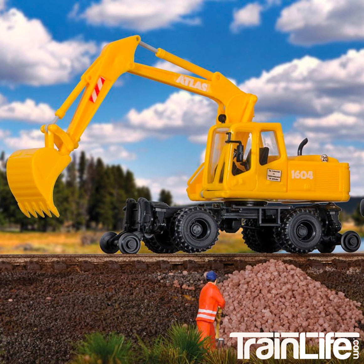 HO Scale: Hi-Rail Excavator - Kit