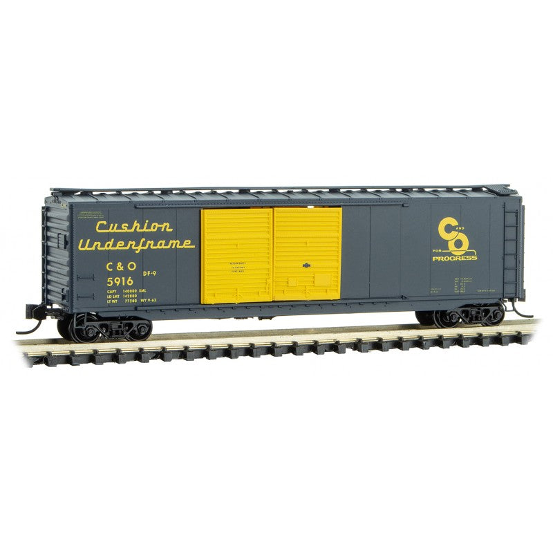 N Scale: 50' Standard Double Door Boxcar - C&O