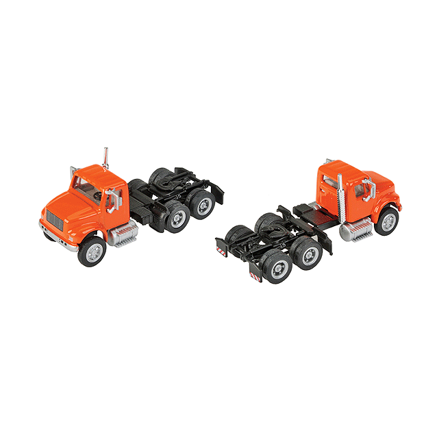 HO Scale: International® 4900 Dual-Axle Semi Tractor - Orange