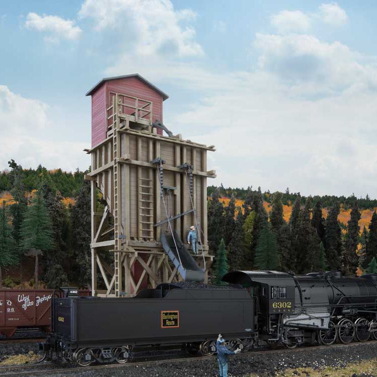 HO Scale: Small Wood Coaling Station - Kit
