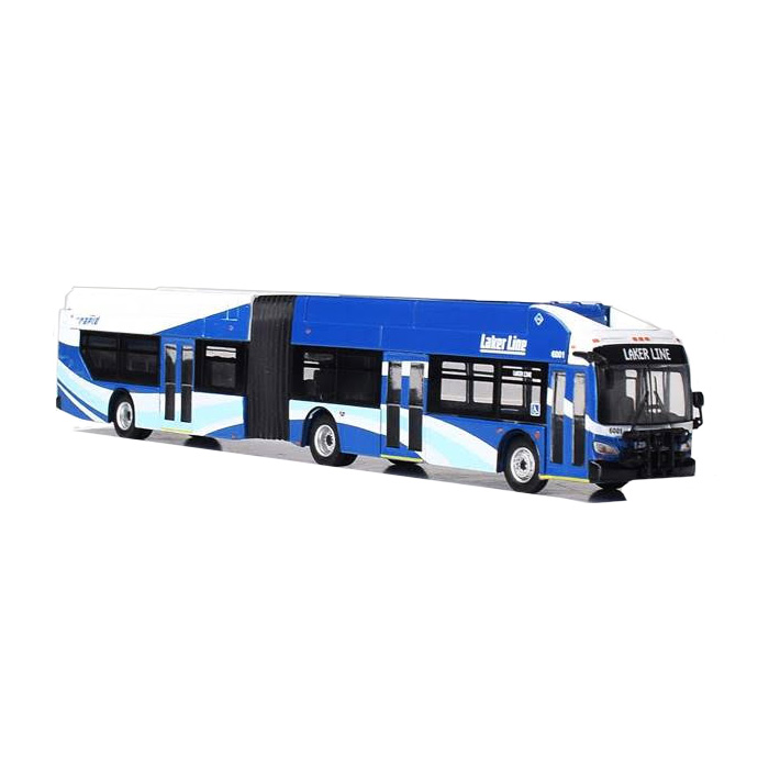 HO Scale: New Flyer Xcelsior XN60 Articulated Bus - Laker Line Grand Rapids, Michigan