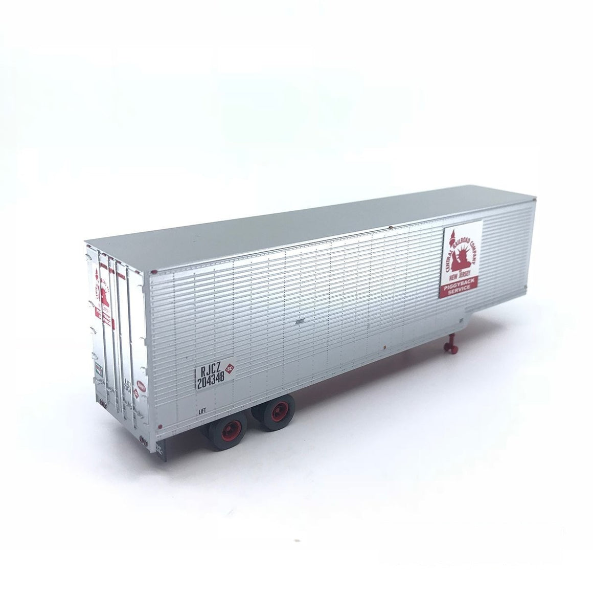 HO Scale: 40' Drop Frame Trailer - New Jersey Central