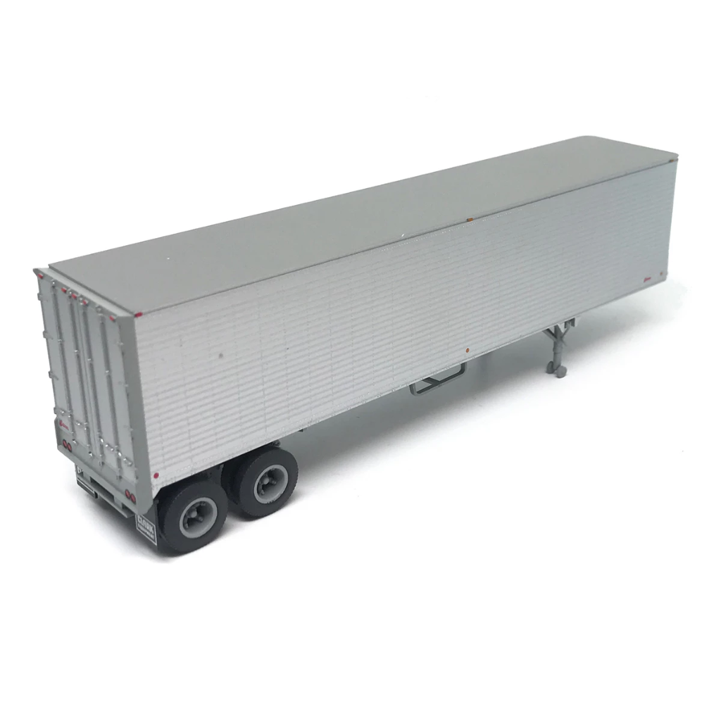 HO Scale: 40' Corrugated Semi Trailer - Brown Unlettered
