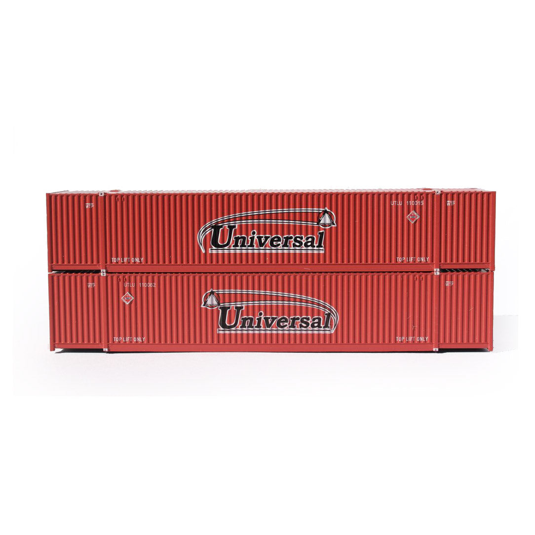 N Scale: 53' High Cube Corrugated Container - Universal - 2 Pack