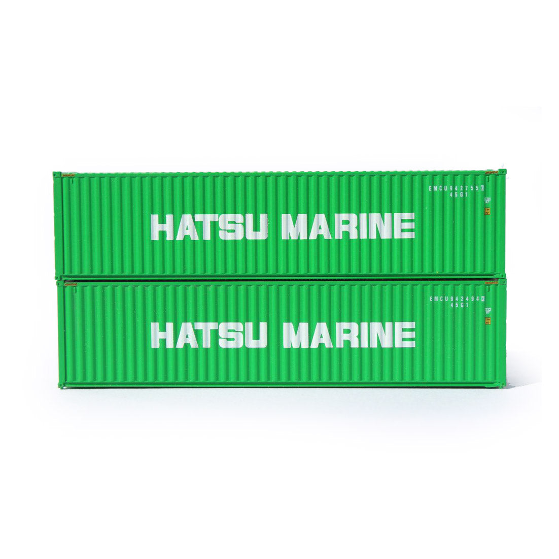 N Scale: 40' High Cube Container - Hatsu Marine - 2 Pack