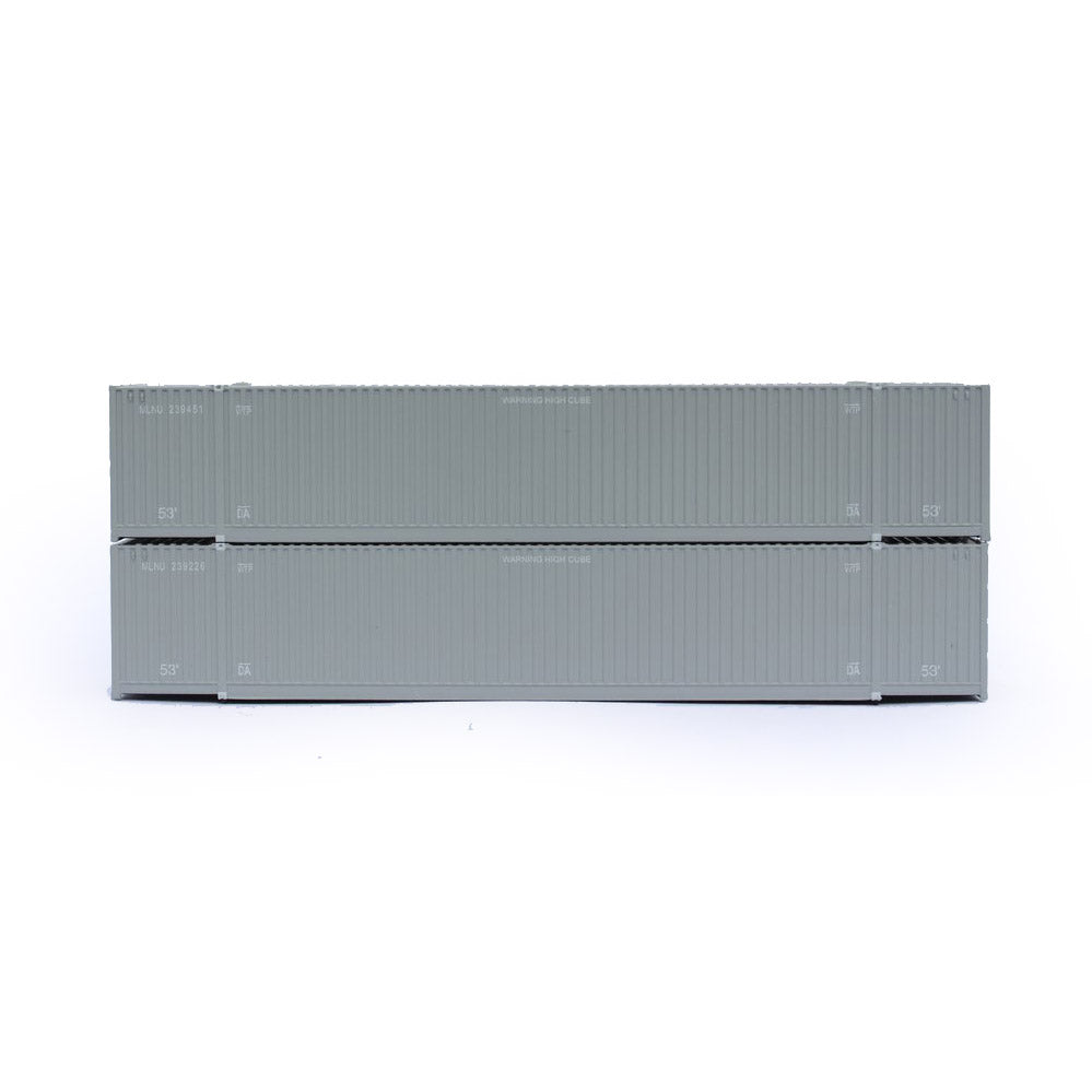 N Scale: 53' High Cube Corrugated Container - Milestone - 2 Pack