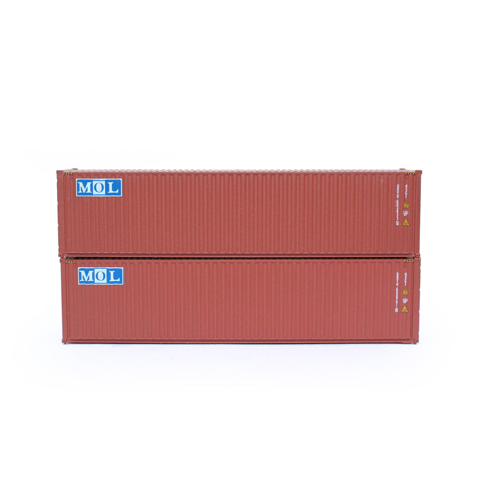 N Scale: 40' High Cube Container - MOL - 2 Pack