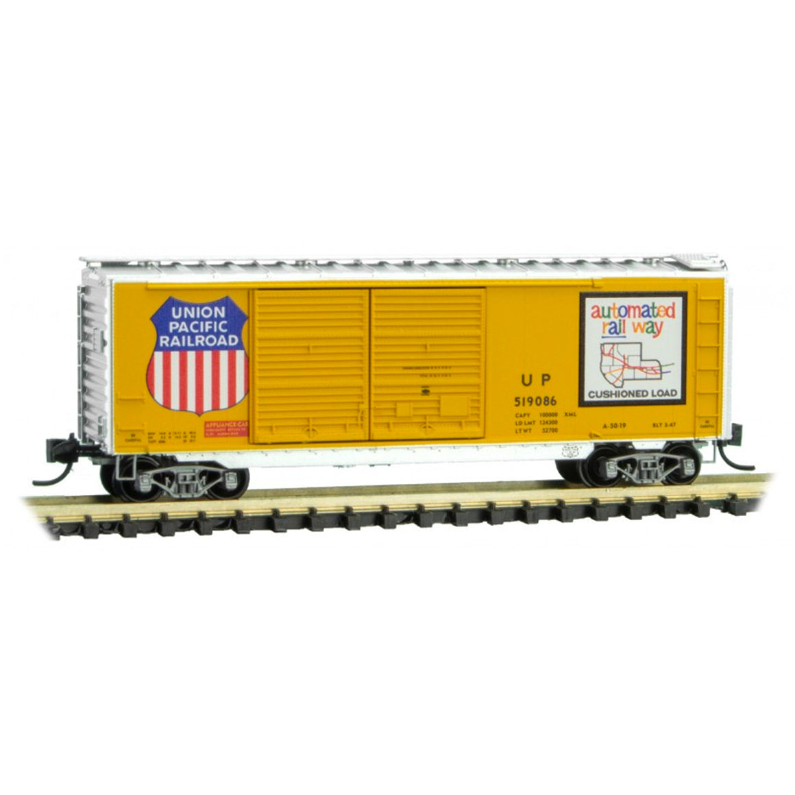 N Scale: 40' Double Door Boxcar - Union Pacific
