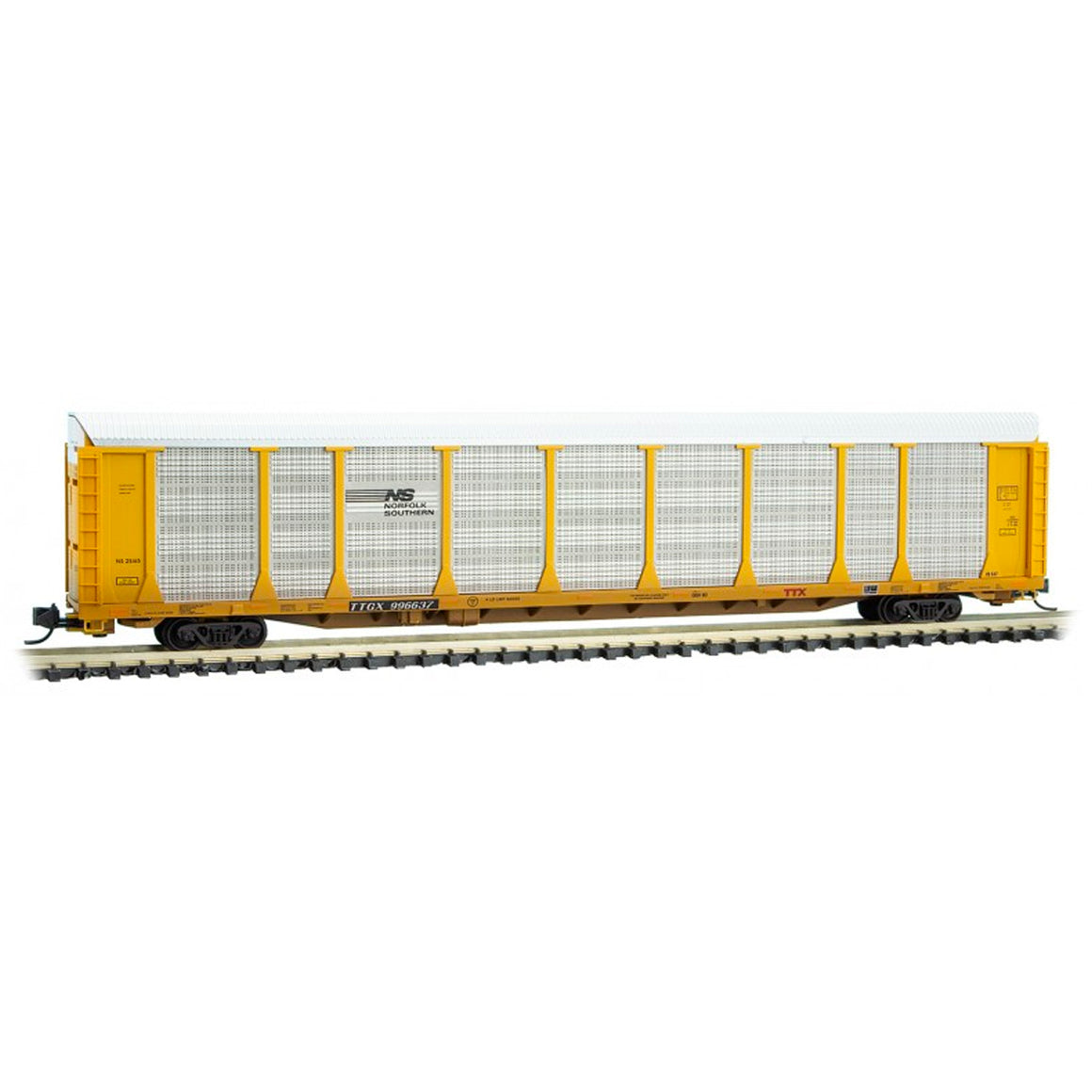 N Scale: 89' Tri-Level Closed Autorack - Norfolk Southern - 'Phoenix Graffiti'
