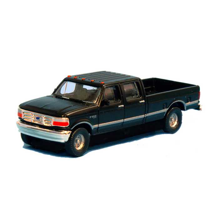 N Scale: 1992 Ford F-250 Series Super Duty 4X4 Crew Cab Pickup - 2-Pack - Black