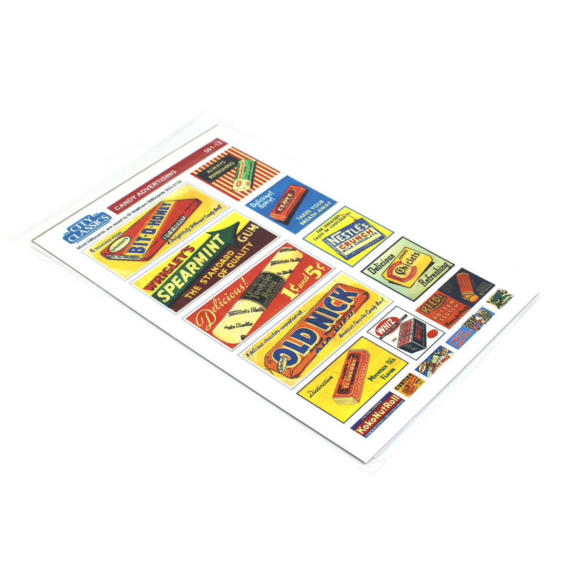HO Scale: Candy Advertising Signs & Posters