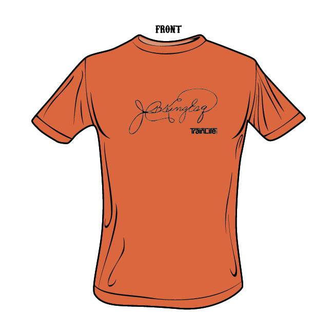 Moniker Tees: JB King Esq. - Black on Burnt Orange
