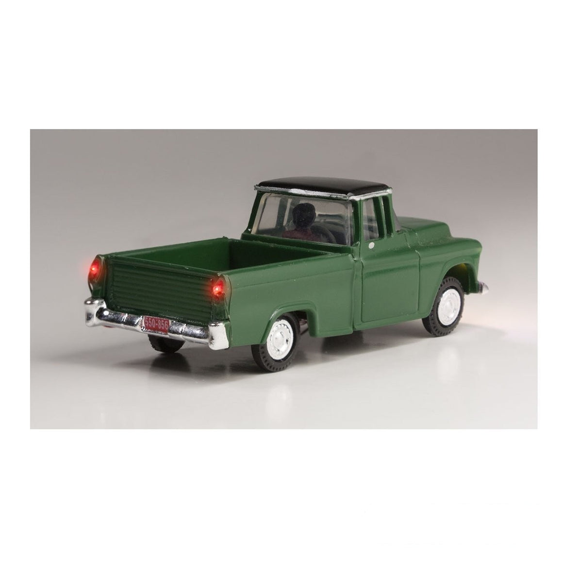 HO Scale: Just Plug® - Lighted Vehicle: Green Pickup