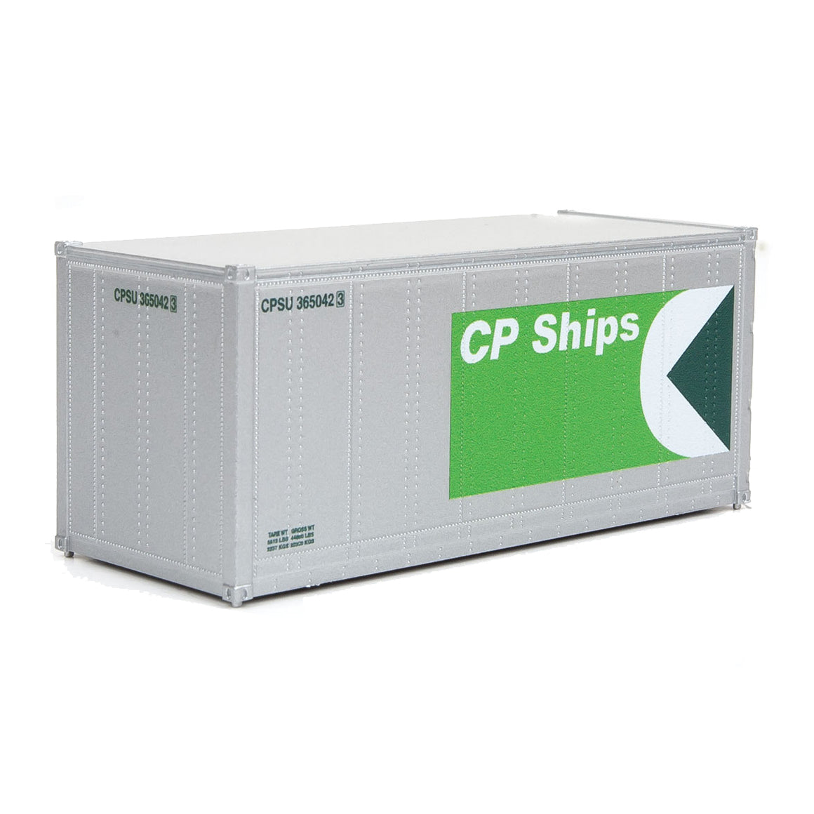 HO Scale: 20' Smooth-side Container - CP Ships