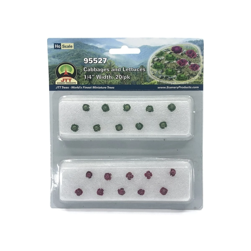 HO Scale: Cabbage/Lettuce - 20 Pack
