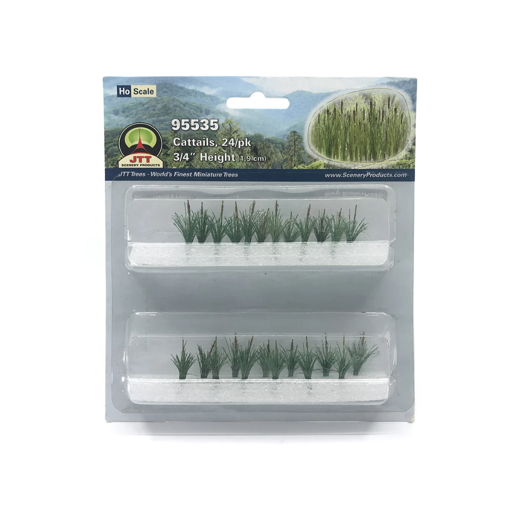 HO Scale: Cattails - 24 Pack