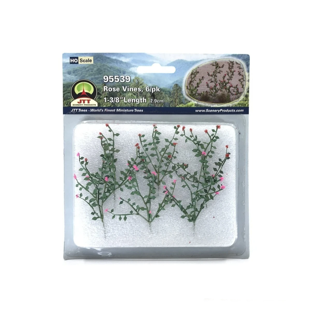 HO Scale: Rose Vines - 6 Pack