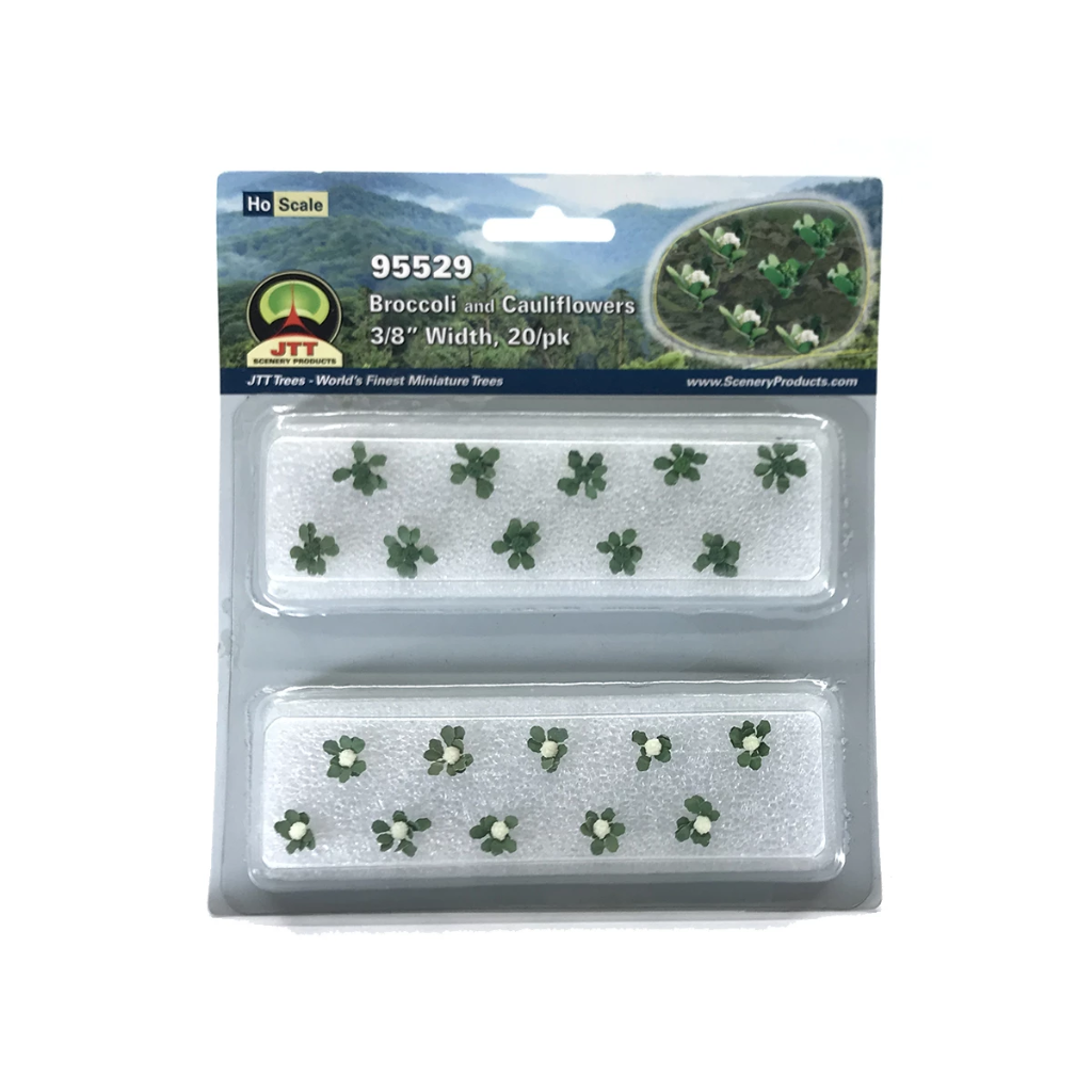 HO Scale: Broccoli & Cauliflower - 20 Pack