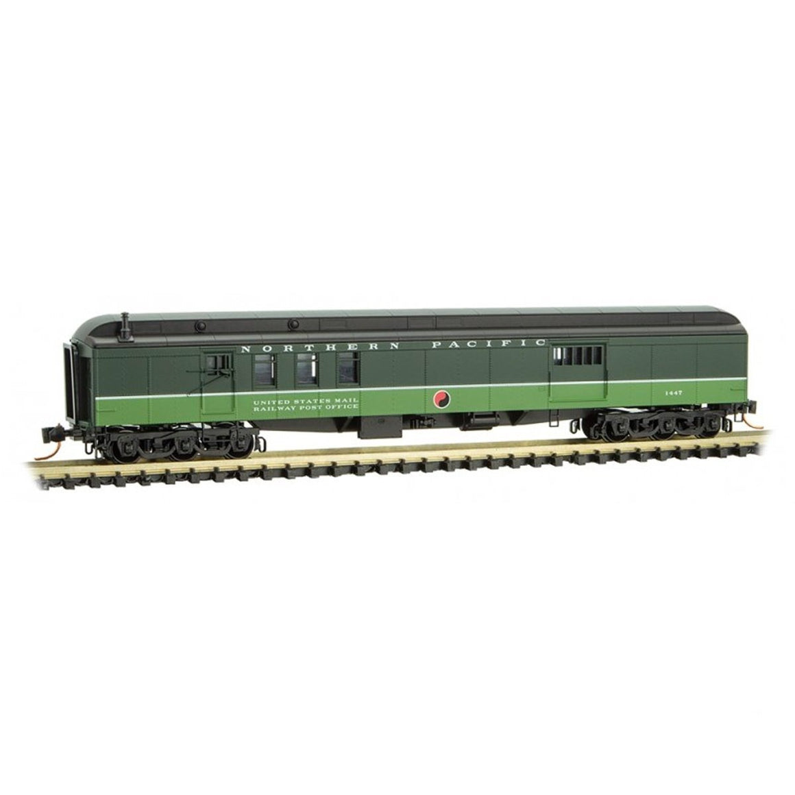 N Scale: 70' Heavyweight Mail-Baggage Car - Northern Pacific