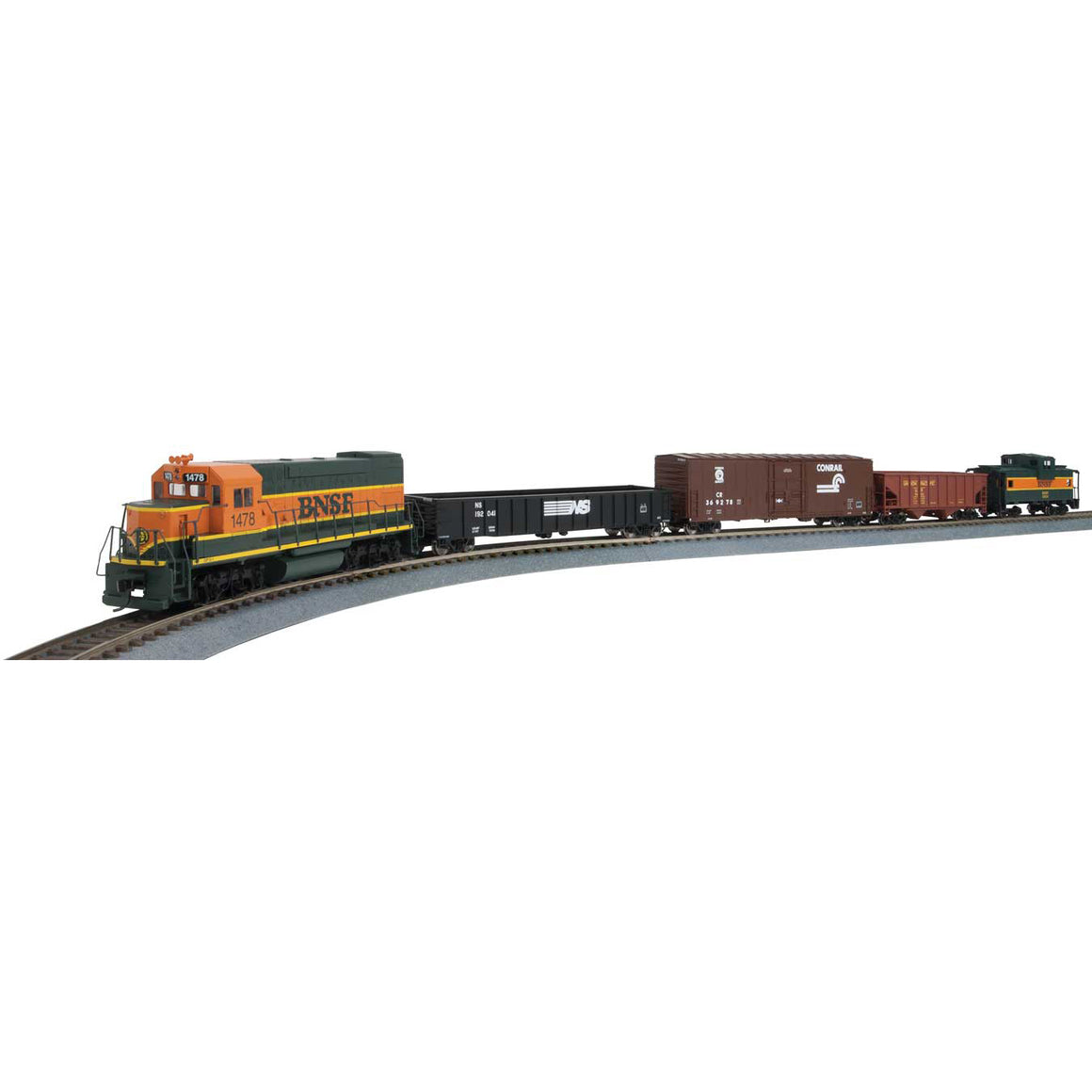 HO Scale: Flyer Express Train Set - DC - BNSF