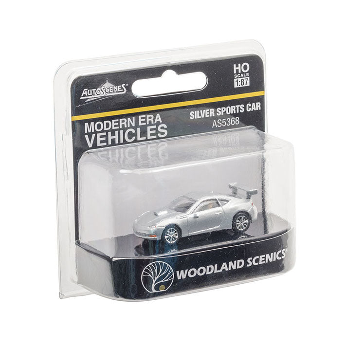HO Scale: Modern Era Sports Car - Silver