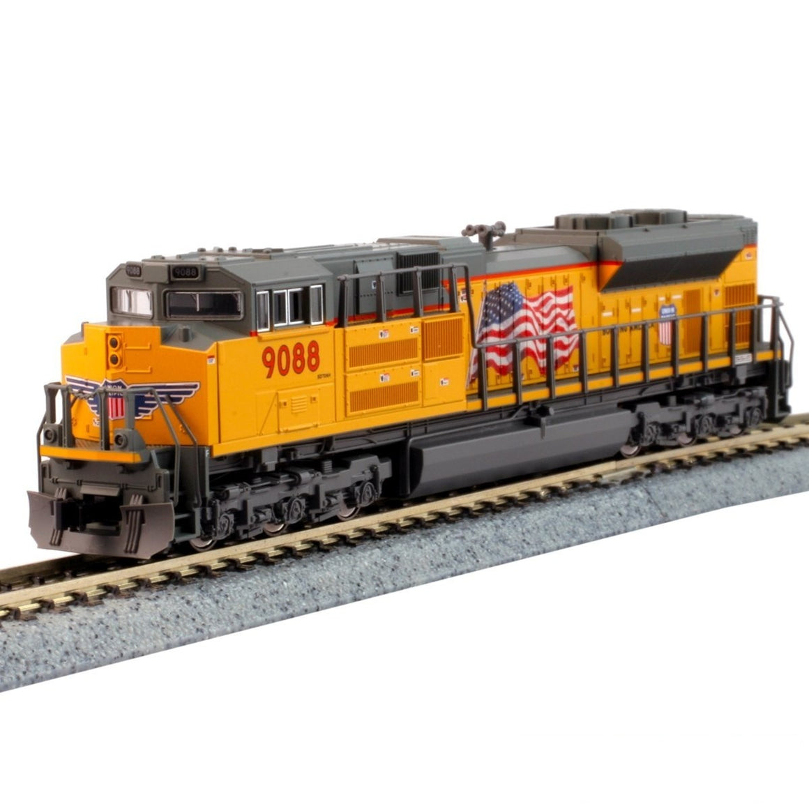 N Scale: EMD SD70ACe - DCC & Sound - Union Pacific - Flag