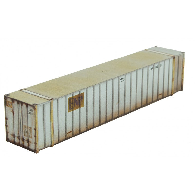 N Scale: 48' Rib Side Container - Weathered - EMP
