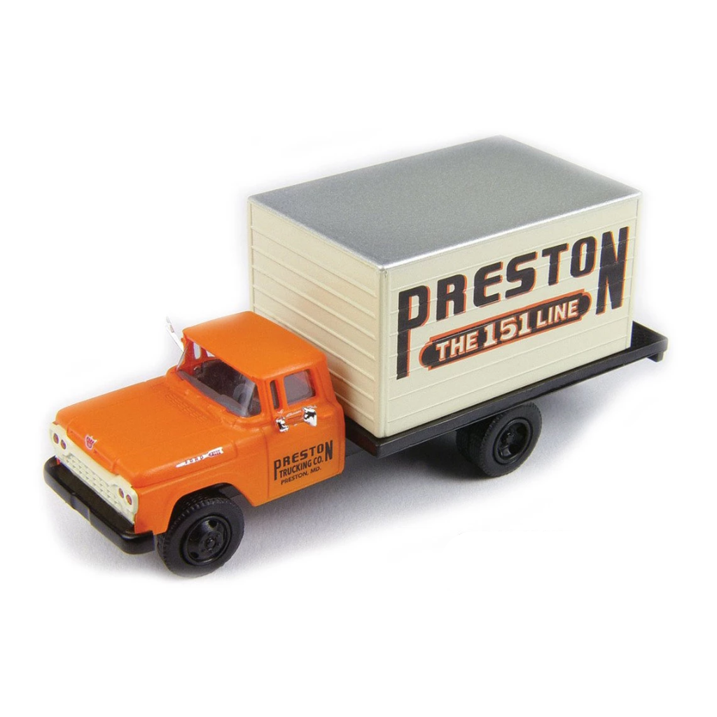 HO Scale: 1960 Ford F-500 Box-Body Delivery Truck - Preston Freight