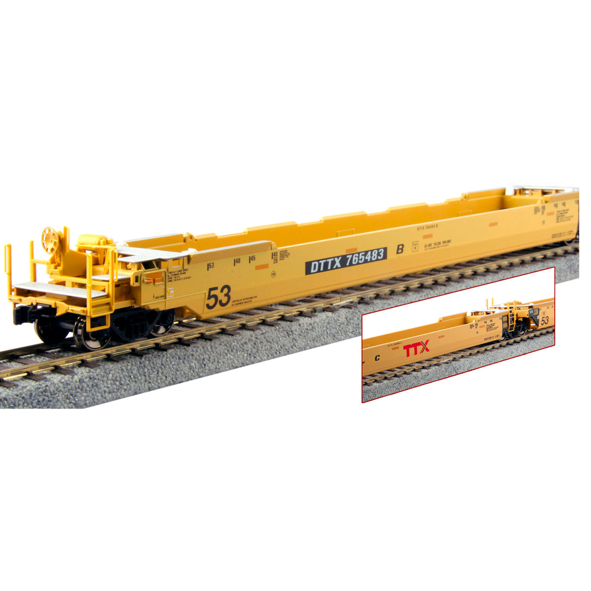 HO Scale: Gunderson Maxi-IV Articulated Well Cars - TTX 'Forward Thinking Logo'