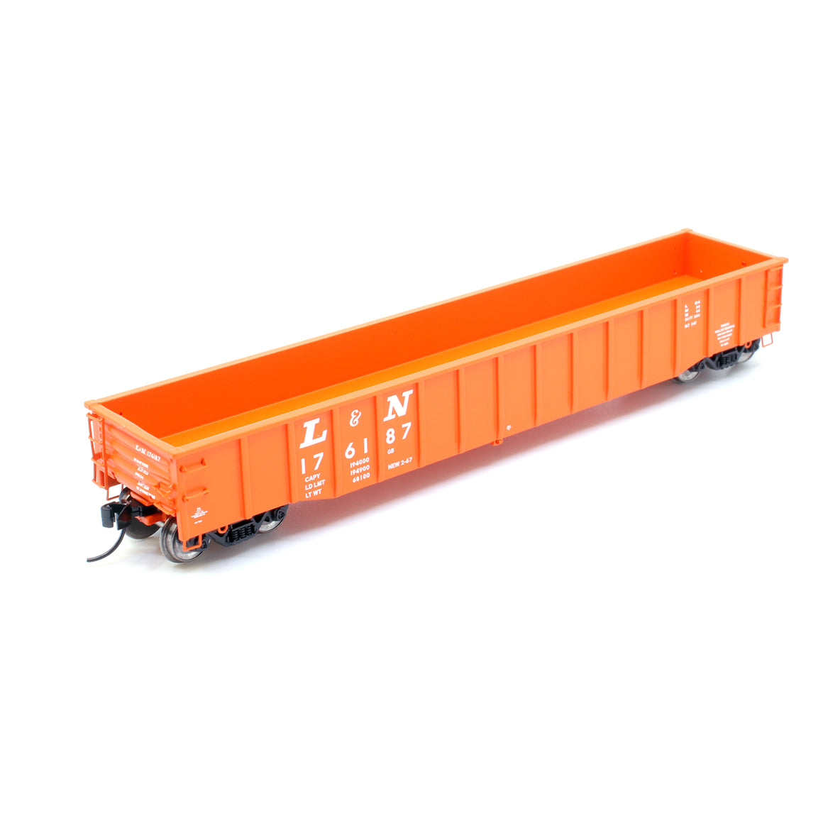 "N Scale: Thrall 52' 6"" Steel Gondola - Louisville & Nashville 'Orange'"