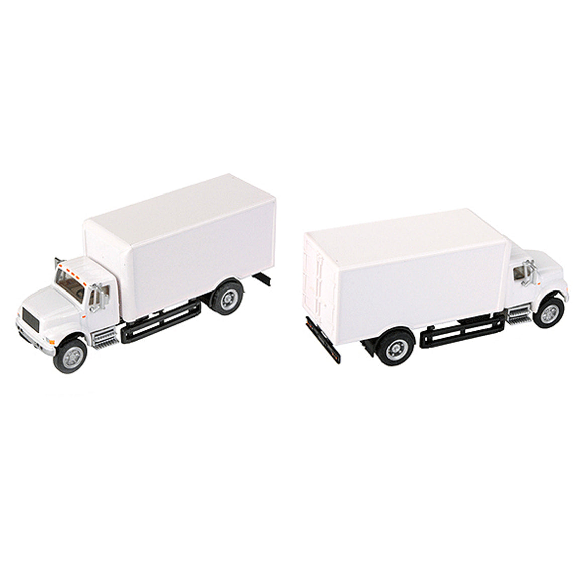 HO Scale: International 4900 Single Axle Box Van - White