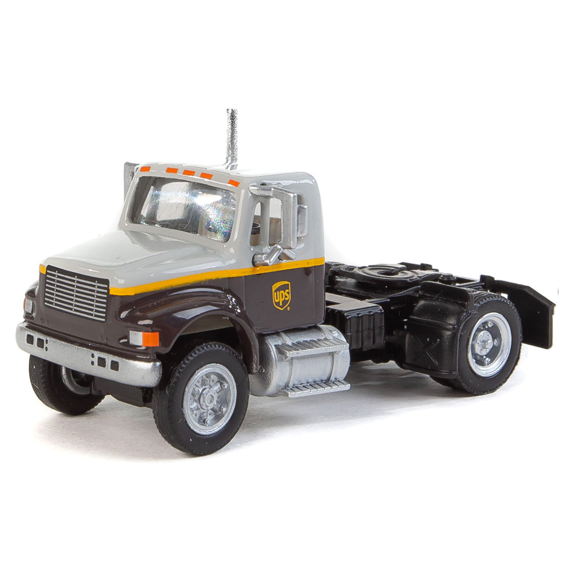 HO Scale: International 4900 Single Axle Semi Tractor - UPS 'Gray'