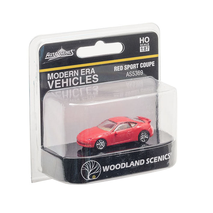 HO Scale: Modern Era Sport Coupe - Red