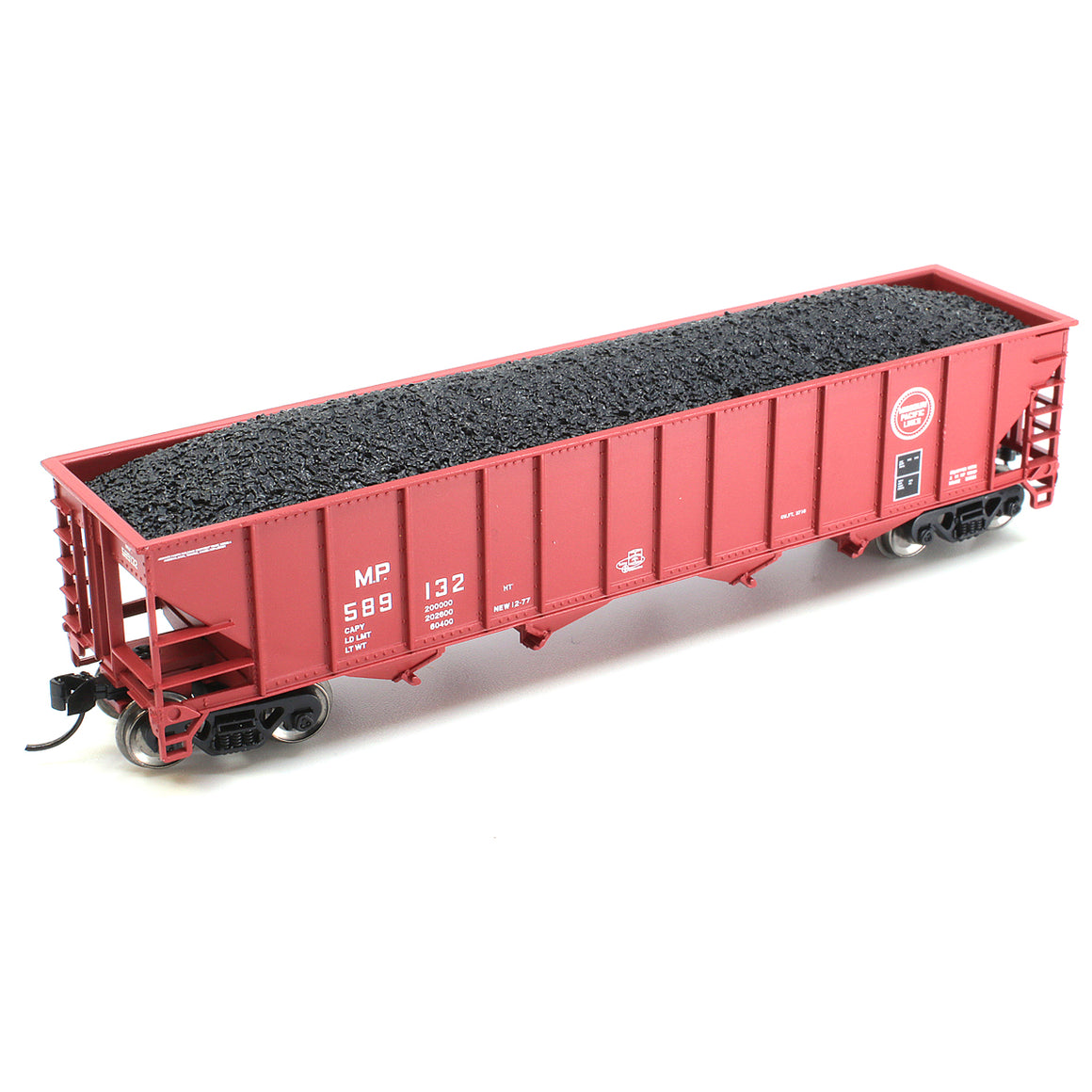 N Scale: Bethlehem 100-Ton Quad Hopper - Missouri Pacific 'Buzz Saw'