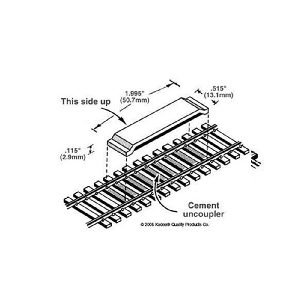 HO Scale: #322 Between-the-Track Magnetic Uncoupler - Code 83