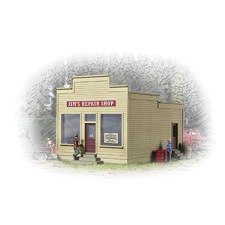 N Scale: Jim's Repair Shop - Kit